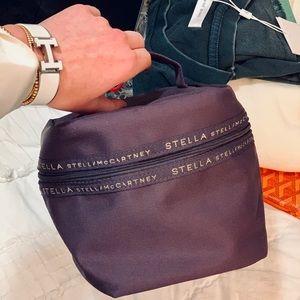 NEW Stella McCartney Logo Trim Cosmetic Bag